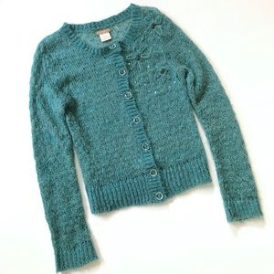 Twenty One by Forever 21 Turquoise Sweater Sequins